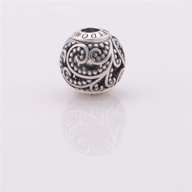 Небольшой религиозные подвески ювелирные изделия стерлингового серебра 925 пробы буквы свободы бусины подходит для пандора тоньше шарма ( yl003 )
