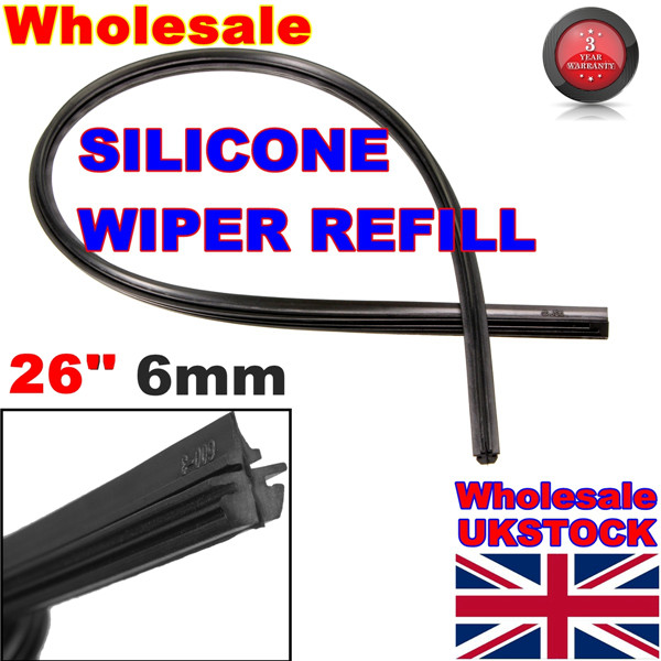 Гаджет  New 26 6mm Cut to Size Universal Vehicle Replacement Wiper Blade Refill Silicone  None Автомобили и Мотоциклы