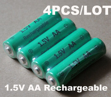30%OFF 4pcs/Lot 3000mAh 1.5v AA rechargeable alkaline battery cell,Zn-Mn batteries replace for 1.2V Ni-mh AA battery