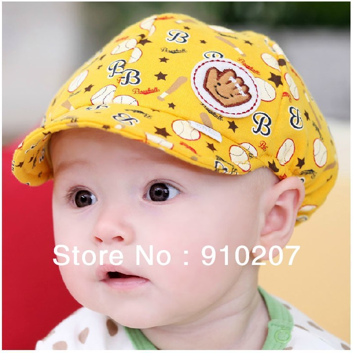 Hot sale! Retail,1piece! 2013 New spring and summer cute kids hat,baby baseball cap,infant lovely cricket-cap for 3-24month