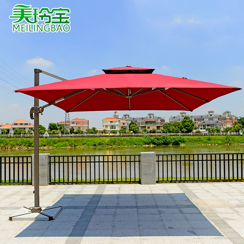 Roman marble base umbrella outdoor patio umbrellas cafe