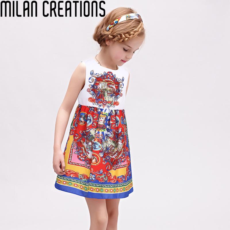 Milan Creations Princess Dress Girl Costume 2016 Brand Girls Dress Children Carretto Siciliano Kids Dresses for Girls Clothes<br><br>Aliexpress