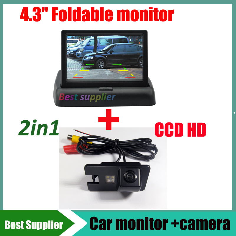 2in1 Car monitor display + Car rear view reverse backup camera For Great wall Hover H3 H5 H6 parking auto kit(China (Mainland))