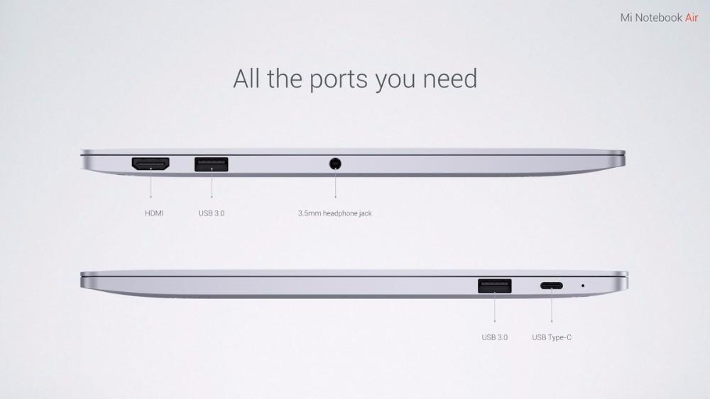 2016 New Xiaomi Air 13 Laptop Windows 10 13.3 inch IPS Screen Intel Core i5-6200u Dual Core 2.3GHz 8GB RAM 256GB SSD In Stock