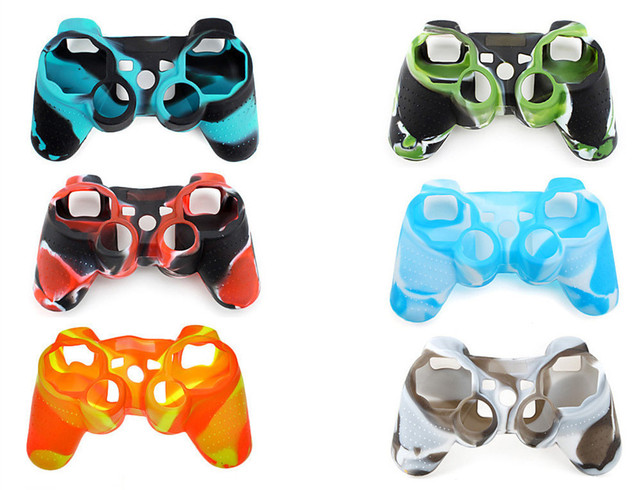 2 pcs Multicolor Silicone Skin Protective Case Cover for Sony PS3 Controller