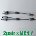 2Pairs x MC4 Connector Y branch M M F and F F M mc4 y Solar