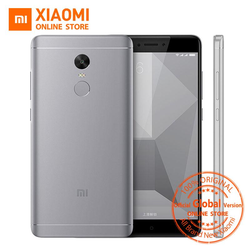 "Global Version Xiaomi Redmi Note 4 Mobile Phone 3GB RAM 32GB ROM Snapdragon 625 Octa Core CPU 5.5"" 1080p Display 13MP FCC CE(China (Mainland))"