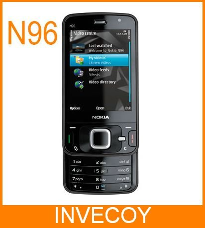 N96 original nokia N96 unlocked cell phone GSM 3G 16GB WIFI GPS 5MP freeshipping(China (Mainland))