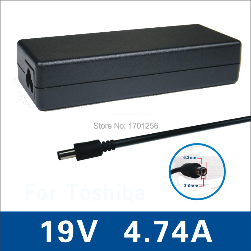 2015 90W 19V 4.74A 6.3*3.0 lapotop AC power adapter Toshiba Satellite A50 A55 M20, - Kylin Store store