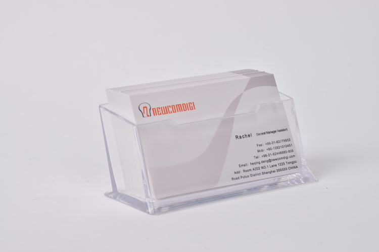 Clear Acrylic Business Card Holder Display Stand Desk Desktop Countertop New(China (Mainland))