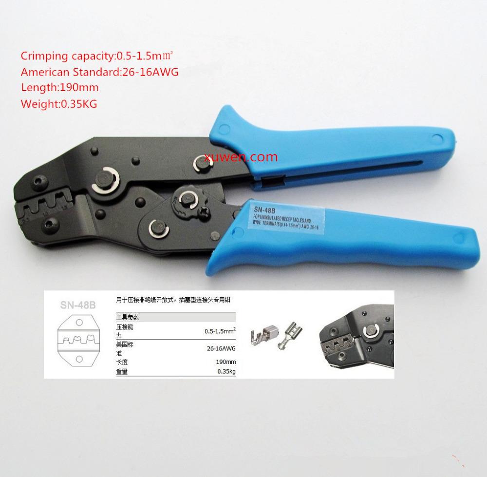 Free shipping 1/PCS SN-48B crimping tool crimping plier 0.5-1.5mm2 multi tool tools hands(China (Mainland))