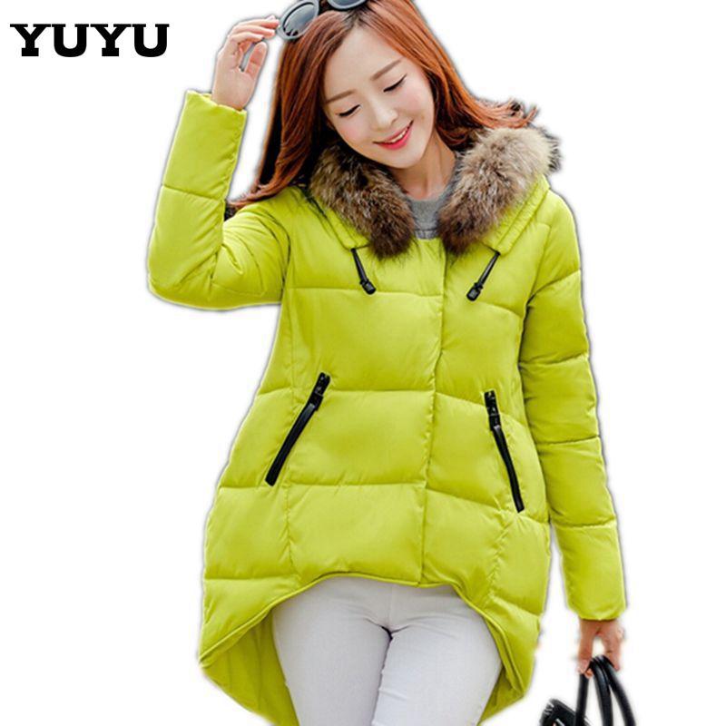 New 2015 Winter Women Down Jackets Women Thick Down Coat Warm Long Fur Hood Coat Slim Down Cotton Padded Women Parka Coat CC2168