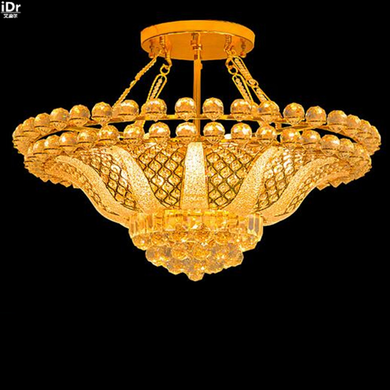 The new European modern crystal lamp living room lamp bedroom lamp lighting the traditional gold Chandeliers Lmy-0206(China (Mainland))