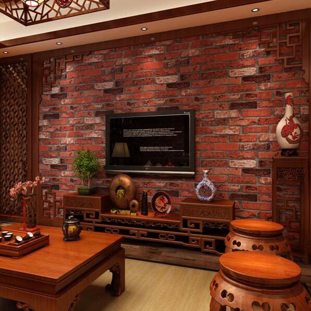 rot stein tapete kaufen billigrot stein tapete partien aus china rot stein tapete lieferanten. Black Bedroom Furniture Sets. Home Design Ideas