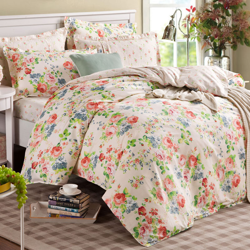 2014 cotton king queen size bedding sets bedclothes duvet covers bed sheet the bed country. Black Bedroom Furniture Sets. Home Design Ideas