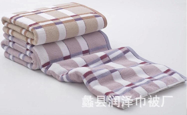 2015 new top fasion knitted novelty households towels bathroom cotton lattice bath towel thickening increase water couple set(China (Mainland))