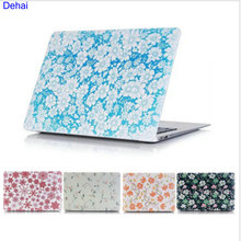 2016 Floral Marble Hard Case for apple Macbook Air Pro 11 12 13 15 Pro13 15 Retina Matte Laptop Protective Printing Cover Shell