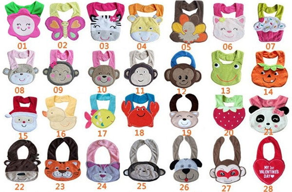 1pcs Free Shipping baby animal bibs 3 layers waterproof bibs high quality Wholesale Price Kids Apron Nursing Cover TPW0001(China (Mainland))