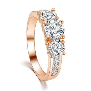 Новый горячий мода роскошные высокое качество покрытие 18 К золото SWA кристалл CZ ...