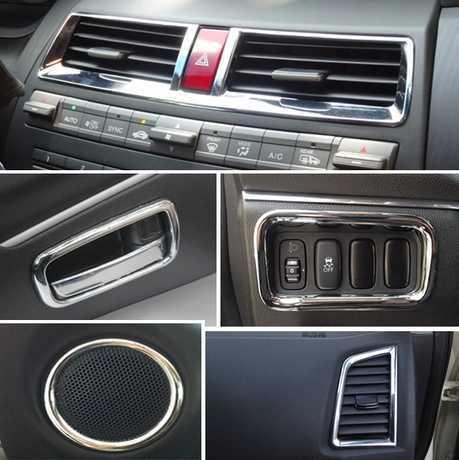 2011 2012 2013 2014 Mitsubishi ASX ABS Chrome trim Interior decoration light bar for 17pcs/lot auto car accessoires<br><br>Aliexpress