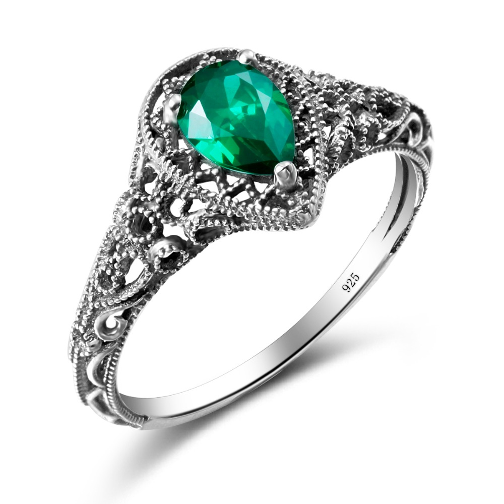popular synthetic emerald rings buy cheap synthetic