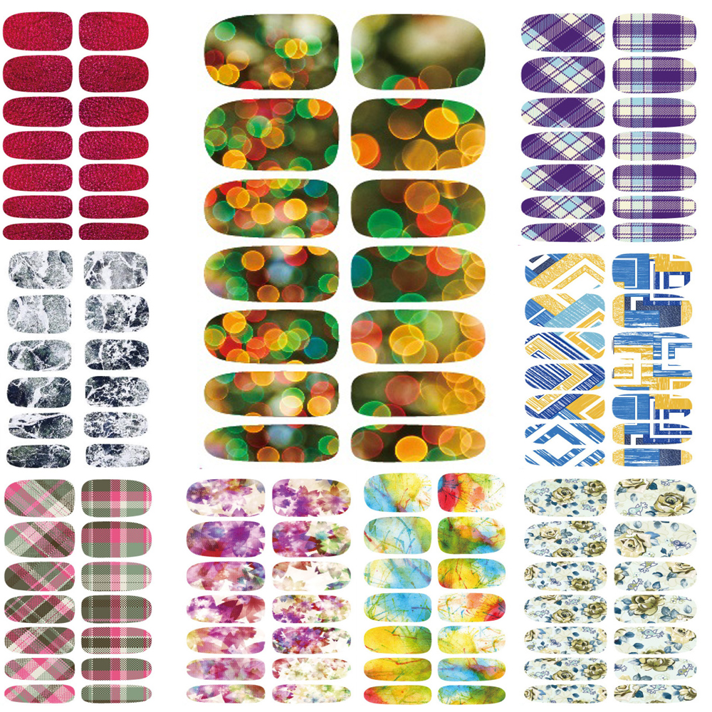 10pcs New Water Transfer Nail Sticker Foil Merry Christmas Fantacy Lights Halo Stars Nail Art Wraps Manicure Sticker Decals(China (Mainland))