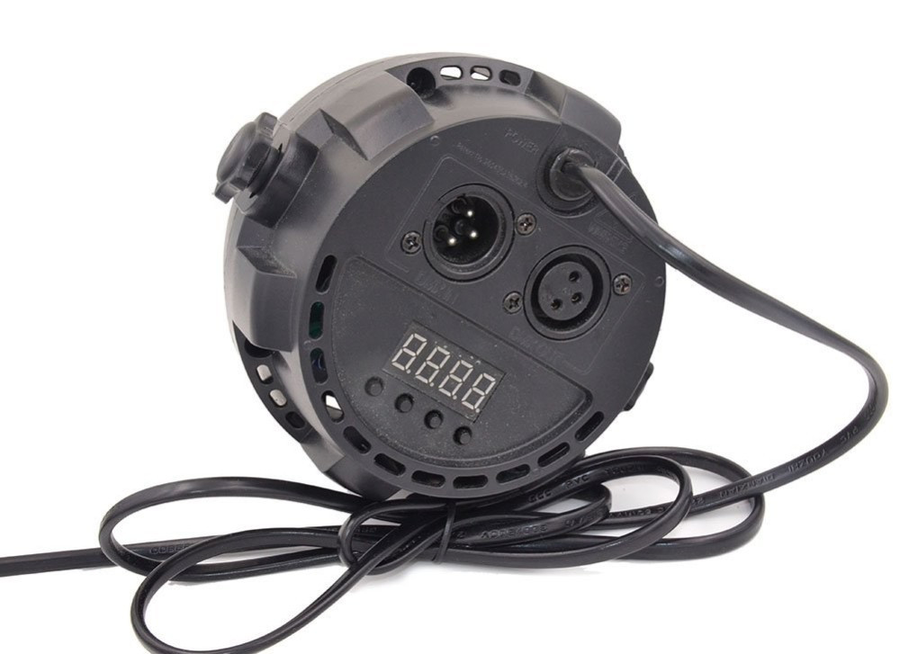 Free Shipping Flat led par stage light 12*3W RGB LED Stage Light Par DMX-512 Lighting Laser Projector Party DJ Lamp