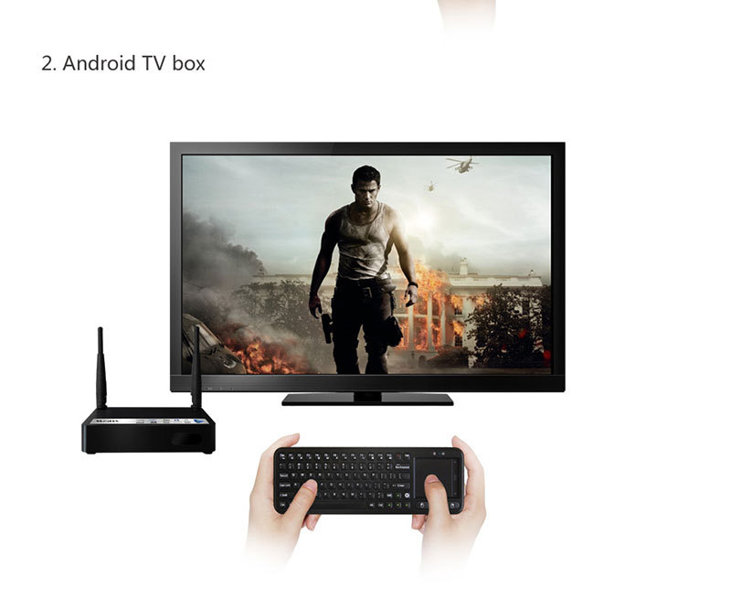 Original Measy RC8 3-in-1 Mini 2.4G USB Wireless Keyboard Air Fly Mouse Touchpad Remote Touch pad for Mini PC Android TV Box