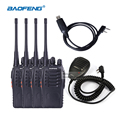 4pcs Bao Feng Walkie Talkies with Headsets UHF Frequency Portable Ham Radio Communicator Baofeng bf 888s