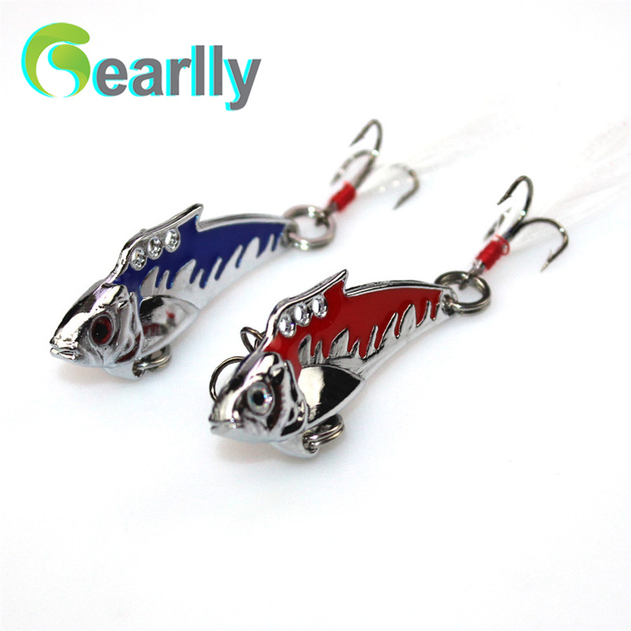 2 PCS/Lot Gearlly VI002 All water level 50mm 8.5g Sink Metal VIB Fishing Lure Hard Lures fishing lures Fish Bait Spoon(China (Mainland))