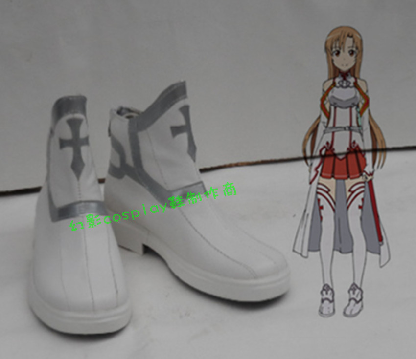 Sword Art Online Yuuki Asuna cosplay shoes boots Custom-Made S00049 - blueskycosplay store