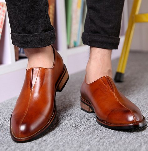 L1261 Size 38-43 2015 New Men's Brief Dress Oxfords Wedding Leather Shoes Young Boys Fashion Party - Shop 1225 store