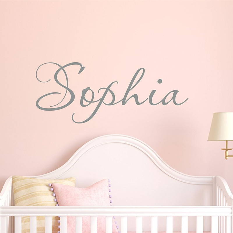 Personalized Bedroom Wall Decor : C girls name decal wall childrens