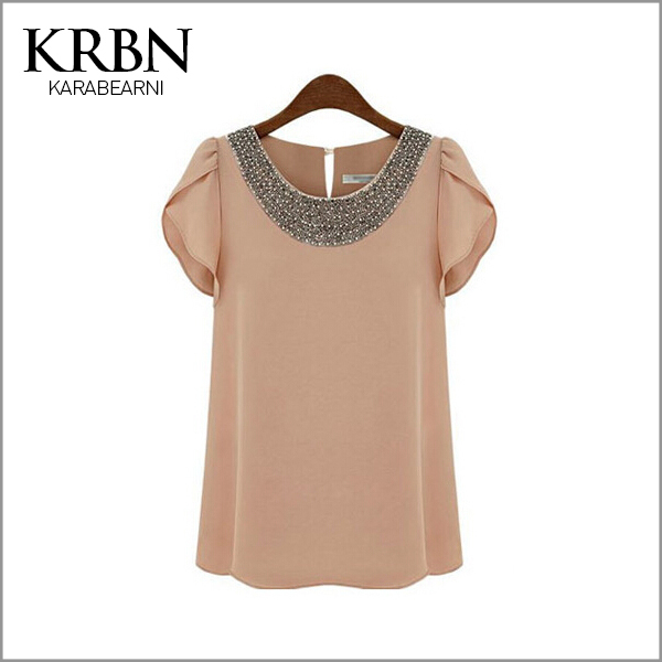 t shirt women tops summer women clothes 2015 woman plus size t-shirt women tshirt sleeve basic solid chiffon tee shirts A1027(China (Mainland))