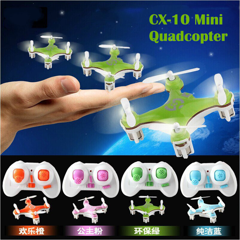 Cheerson CX-10 Original 2.4G RC Mini helicopter 4CH 6-Axis GYRO World's Smallest Remote Control Quadcopter - Chen II store