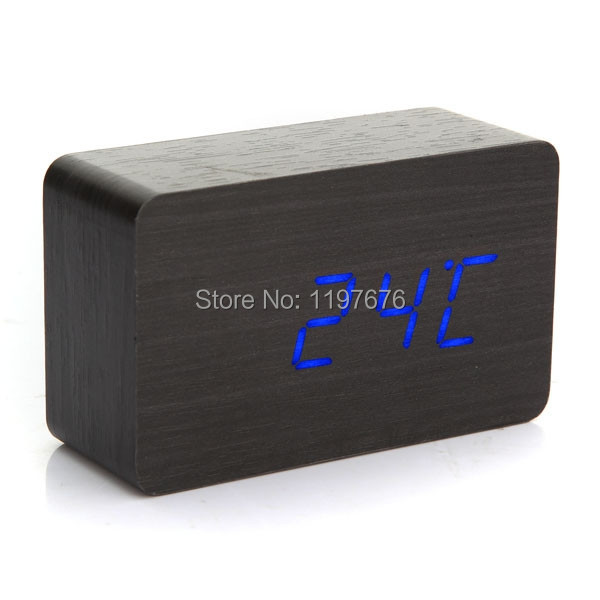 2014 New Alarm Clock Led Display,Battery/USB power Voice Sounds Control Digital clock for wholesale(China (Mainland))