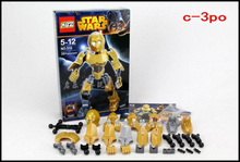 KSZ 20cm Height C-3po Minifigures Super Heroes Building Blocks Toys Mini Figures Compatible With Lego Star Wars Bobafett