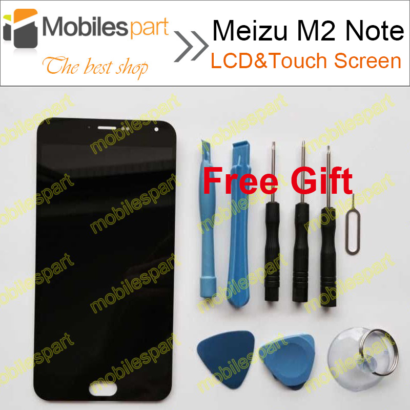 Meizu M2 Note LCD Screen 100% Original LCD Display+Touch Screen Replacement Accessories For Meizu M2 Note Free Shipping(China (Mainland))