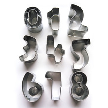 0-8 Numbers Stainless Steel Baking Cake Mold CooKing Tools Fondant Cookie Cutter Cake Decorating Tools Kitchen Accessories S3282