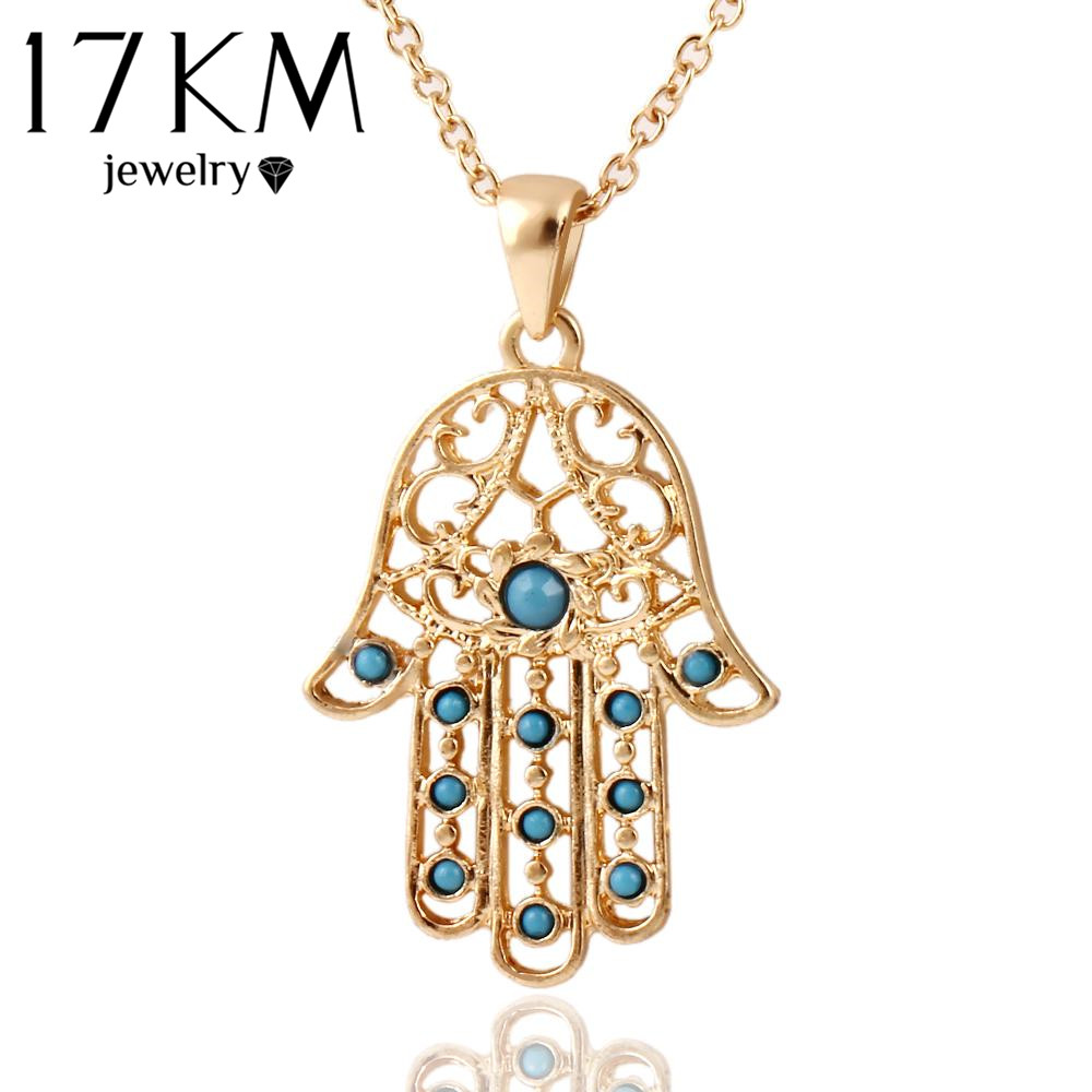 Classic The hand of Fatima hamsa Necklace jewelry Pendants Metal Chain Palm Statement Necklace Fashion for women colar CS13(China (Mainland))
