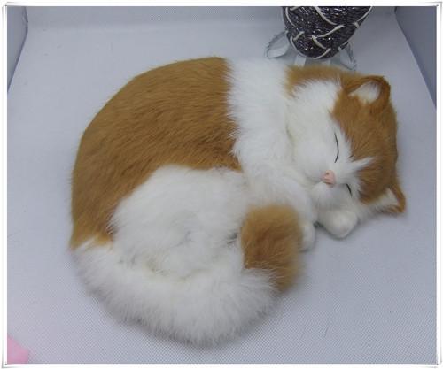 Здесь можно купить  new simulation sleeping cat toy polytene & fur white and yellow cat toy home furnishing gift 25x21cm  Игрушки и Хобби
