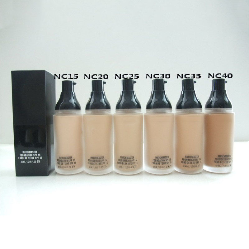 Hot Sale Mineral Liquid Foundation 40ML Makeup 6 Colors Studio Fix Fluid Matchmaster SPF15 Liquid Foundation balm(China (Mainland))
