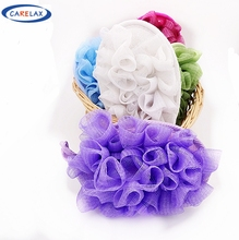 Novelty Shower Foam Bath Mesh Sponge Body Cleaning Mesh Nylon Cleansing Washing Flower Body Cleaning Bubble Bath Tool(China (Mainland))