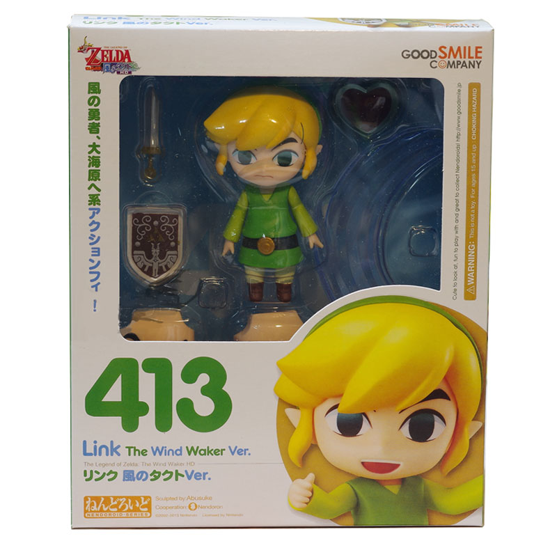 Goodsmile Company Gold Simle 413 The Wind Waker Ver Nintendo Greezo The Legend of Zelda Link Action Figure Collectible Figurine(China (Mainland))