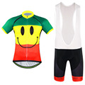 Rock Racing Bicycle Clothes Smiling face Man s GEL Breathabkle Cycling Jerseys MTB Bike Clothing Ropa