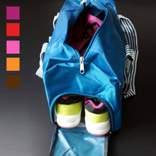 2015 new sport bag for women yoga fitness gym handbag shoes bag fashion outdoor travel bag