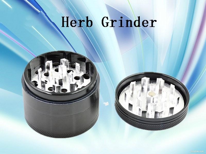 Aluminum Alloy Metal Herb Grinder 55mm Smoking 4 Parts Black . - spring -liang store