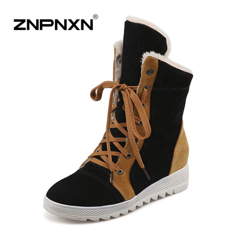 women boots 2015 winter warm snow fashion platform shoes ankle - ZNPNXN SHOES Flagship Store store