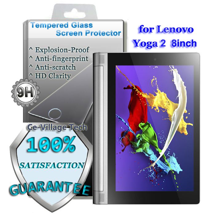 Premium 9H Explosion-proof Tempered Glass Screen Protector Lenovo Yoga Tablet 2 LCD Guard Tab2 830F 8inch - Ce-Village Tech Co.,LTD store