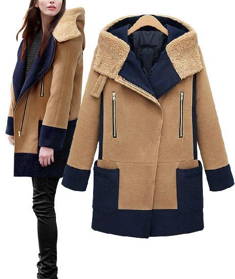 2015 Fashion Winter Long Coat woman Woolen casacos femininos warm outside cold sobretudo manteau women wool coats abrigos mujer - Shop312854 Store store